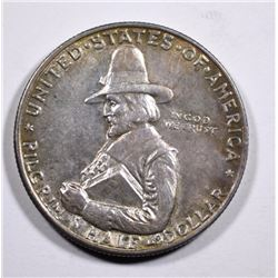 1920 PILGRIM COMMEMORATIVE HALF DOLLAR, CHOICE BU