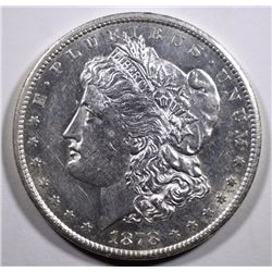 1878-CC MORGAN SILVER DOLLAR, CHOICE BU