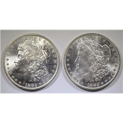 ( 2 ) 1883-O MORGAN SILVER DOLLARS, CHOICE BU
