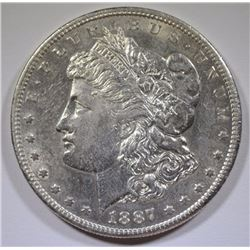 1887-S MORGAN SILVER  DOLLAR  BU