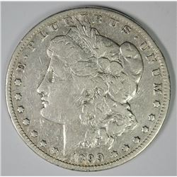 1899 MORGAN SILVER DOLLAR, F/VF  KEY COIN