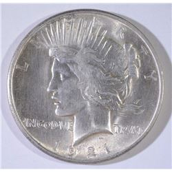 1921 PEACE SILVER DOLLAR, CHOICE BU  NICE!