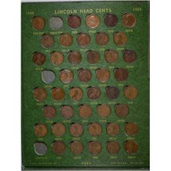 LINCOLN CENT SET 1909-1960 MISSING ONLY 1909-S-VDB, 1914-D. NICE CIRC.