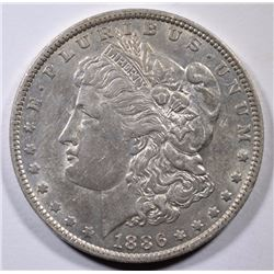 1886-O MORGAN SILVER DOLLAR ORIGINAL AU/UNC  SEMI-KEY