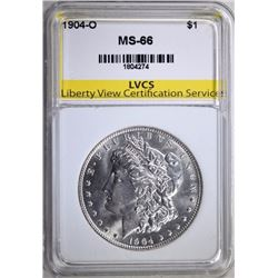 1904-O MORGAN SILVER DOLLAR LVCS SUPERB GEM