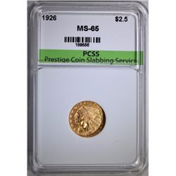 1926 $2.5 GOLD INDIAN HEAD PCSS GEM BU
