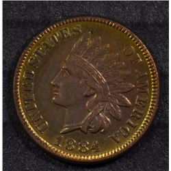 1884 INDIAN HEAD ONE CENT GEM BU