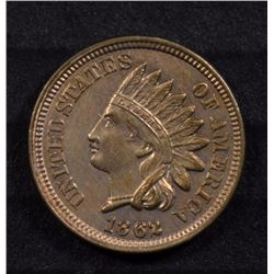 1862 INDIAN HEAD ONE CENT CH BU