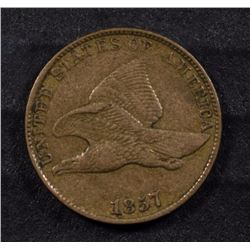 1857 FLYING EAGLE CENT XF+