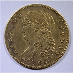 1810 $5 GOLD CAPPED BUST LARGE DATE LARGE 5 AU/UNC  RARE!