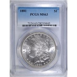 1881 MORGAN DOLLAR PCGS MS-63