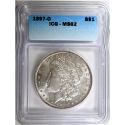 1897-O MORGAN DOLLAR ICG MS-62