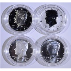 2014 50th ANNIV 4-PIECE KENNEDY HALF DOLLAR SILVER COIN SET, IN ORIG PACKAGING