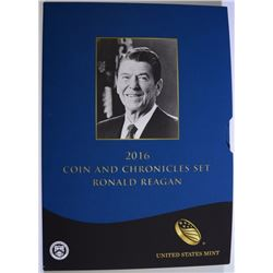 2016 RONALD REAGAN COIN AND CHRONICLES SET IN ORIGINAL PACKAGING