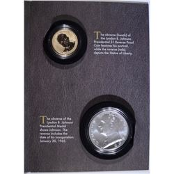 2015 LYNDON B JOHNSON COIN AND CHRONICLES SET