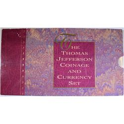1993 THOMAS JEFFERSON COINAGE & CURRENCY SET IN ORIGINAL PACKAGING