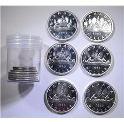 CANADIAN SILVER COIN LOT, FROM PL SETS