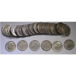 SILVER ROOSEVELT DIME ROLL - 90% SILVER - CIRC