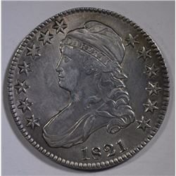 1821 CAPPED BUST HALF DOLLAR - VF