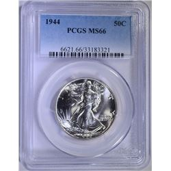 1944 WALKING LIBERTY HALF DOLLAR - PCGS MS66