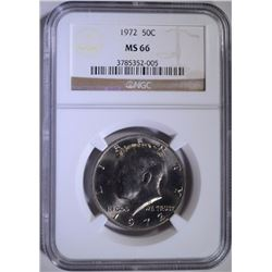 1972 KENNEDY HALF DOLLAR - NGC MS 66