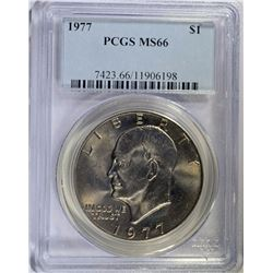 1977 EISENHOWER DOLLAR, PCGS MS-66