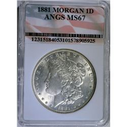 1881- MORGAN SILVER DOLLAR -ANGS SUPERB GEM BU