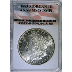 1883 MORGAN SILVER DOLLAR - ANGS SUPERB GEM+ BU DMPL