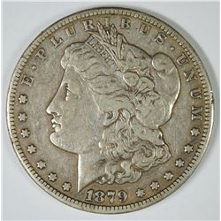 "1879-CC MORGAN SILVER DOLLAR ""CLEAR CC"" ORIGINAL XF, KEY"