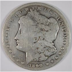 1890-CC MORGAN SILVER DOLLAR VG
