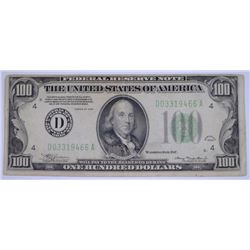 1934 $100 FEDERAL RESERVE NOTE - VF