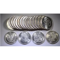 ROLL ( 20 ) 1921 MORGAN SILVER DOLLARS - CHOICE / GEM BU, VERY NICE ROLL!