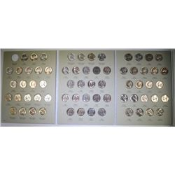 COMPLETE GEM BU+ SET - JEFFERSON NICKELS 1938-1961, REALLY A BEAUTIFUL SET!!