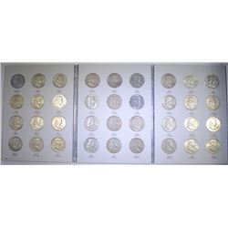 COMPLETE SET FRANKLIN HALF DOLLARS, 1948-1963 - NICE CIRC ( 35 COINS )