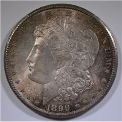1899-O MORGAN SILVER DOLLAR - GEM BU++ SUPER COLOR