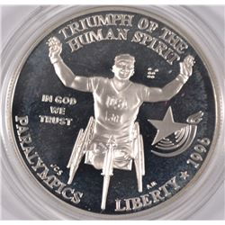 1996 PROOF SILVER COMMEM - OLYMPIC GAMES - WHEELCHAIR