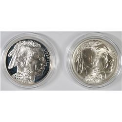 2001 BU & PROOF BUFFALO COMMEM SILVER DOLLARS IN ORIGINAL PACKAGING