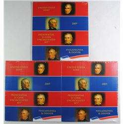 ( 3 ) 2009 U.S. PRESIDENTIAL UNCIRCULATED SETS SEALED IN ORIG MINT PACKAGING