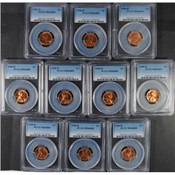 10 - 1956-D LINCOLN CENT, PCGS MS66 RED