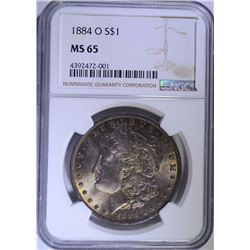 1884-O MORGAN SILVER DOLLAR NGC MS 65 GEM