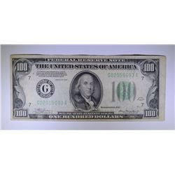 1934 $100.00 FEDERAL RESERVE NOTE, VF
