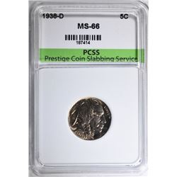 1938-D BUFFALO NICKEL, PCSS SUPERB GEM BU