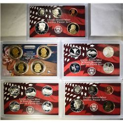 2006 & 2007 U.S SILVER PROOF SETS IN ORIGINAL PACKAGING