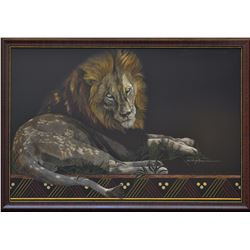 """""""Sunspotted"""" - Framed Original Scratch Board by Sally Maxwell"""