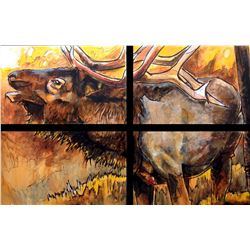 PULLED By Donor-not exhibiting.  Original Acrylic and Mixed Media Painting on Canvas by Ed Anderson