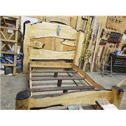 Gorgeous Solid Maple and Poplar Queen Bed Frame