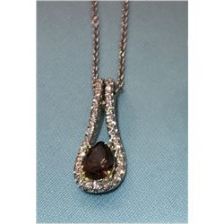 Ladies 18K White Gold Pendant