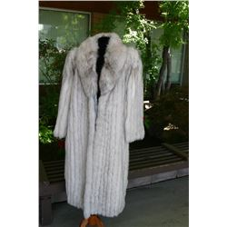 Blue Fox Full Length Coat