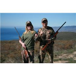 2-day California Quail and Boar Hunt for Two Hunters