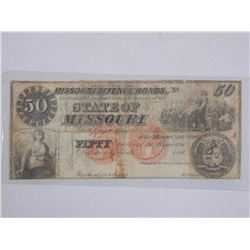 'State of Missouri' $50.00 Dated - 186?